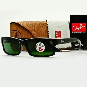 Ray-Ban Sunglasses Green Polarized Lens